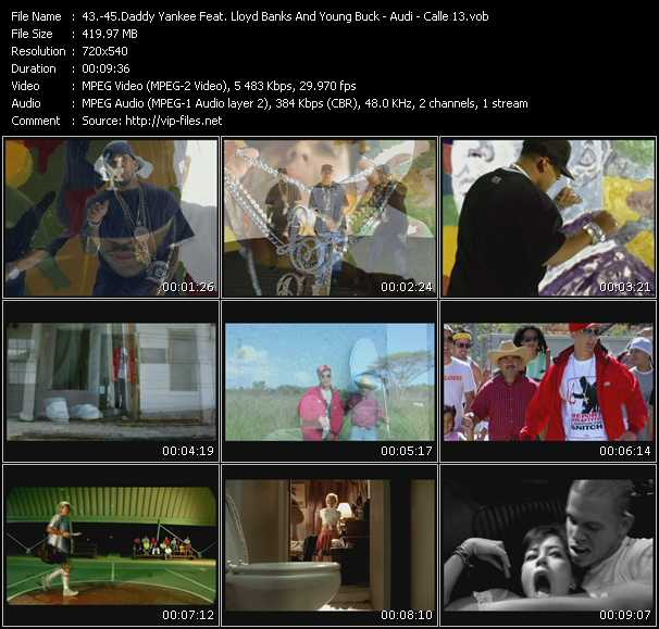 Daddy Yankee Feat. Lloyd Banks And Young Buck - Audi - Calle 13 video screenshot