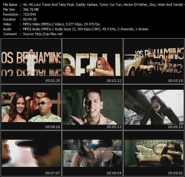 Luny Tunes And Tainy Feat. Daddy Yankee, Tonny Tun Tun, Hector El Father, Zion, Wisin And Yandel - Tito El Bambino - Wisin And Yandel video screenshot