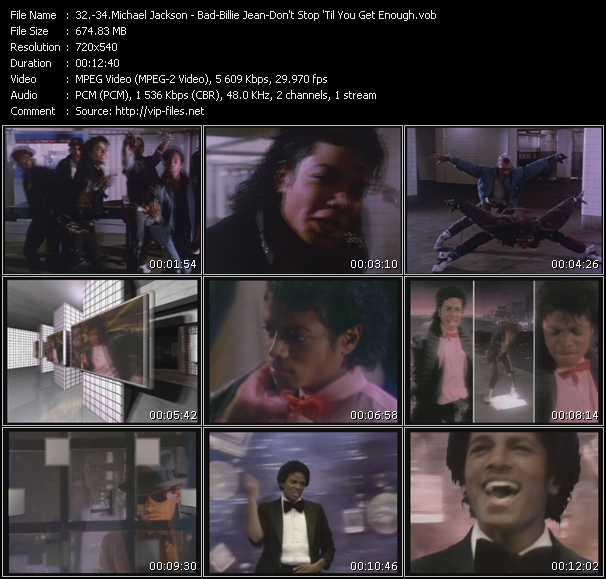 video Bad - Billie Jean - Don't Stop 'Til You Get Enough screen