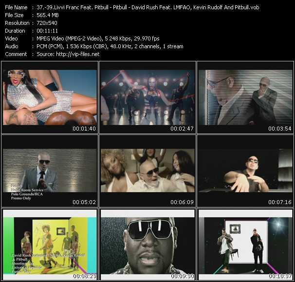 Livvi Franc Feat. Pitbull - Pitbull - David Rush Feat. Lmfao, Kevin Rudolf And Pitbull video screenshot