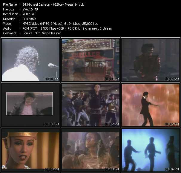 video HIStory Megamix screen