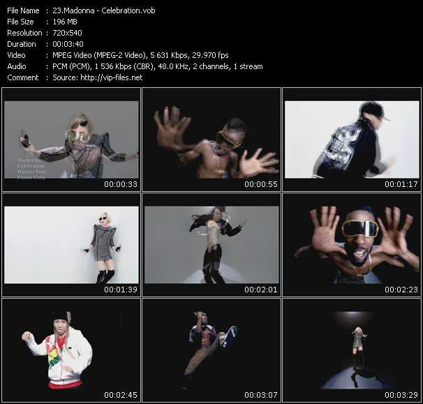 video Celebration screen
