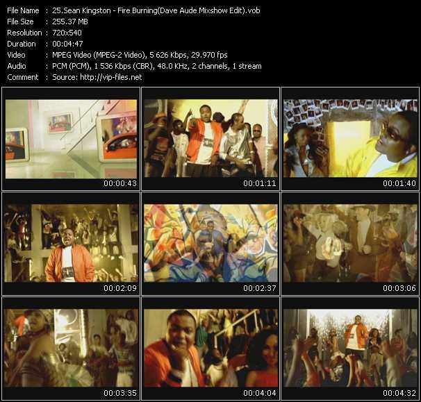 video Fire Burning (Dave Aude Mixshow Edit) screen