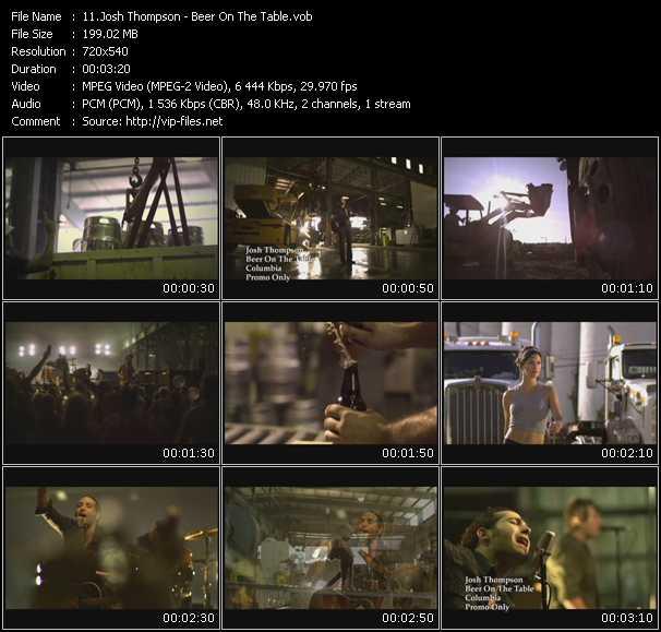 Josh Thompson video screenshot