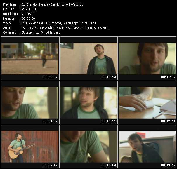 Brandon Heath video screenshot