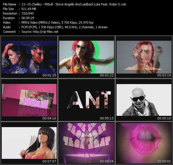 Chelley - Pitbull - Steve Angello And Laidback Luke Feat. Robin S. video screenshot