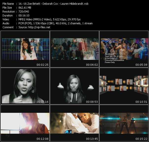 Zoe Birkett - Deborah Cox - Lauren Hildebrandt video screenshot