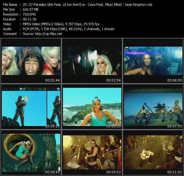 Paradiso Girls Feat. Lil' Jon And Eve - Ciara Feat. Missy Elliott - Sean Kingston video screenshot