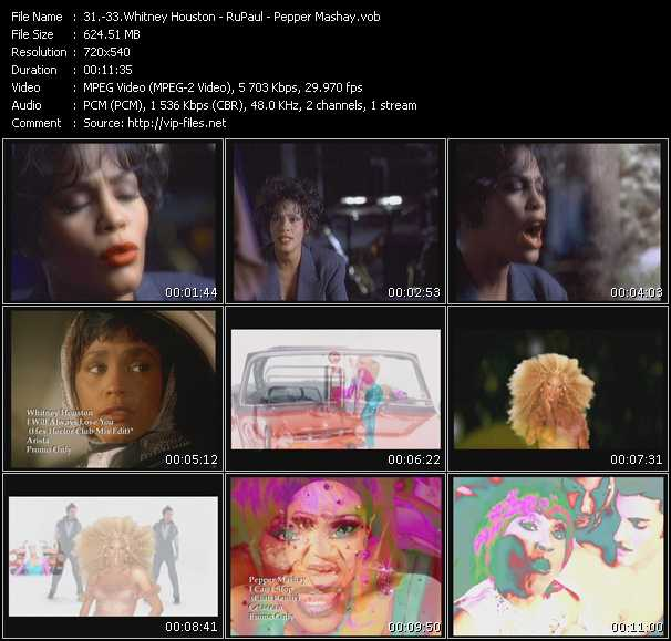Whitney Houston - RuPaul - Pepper Mashay video screenshot