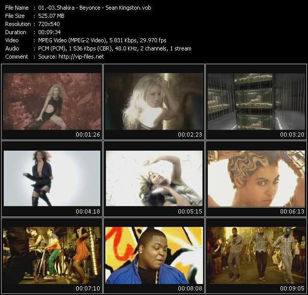 Shakira - Beyonce - Sean Kingston video screenshot