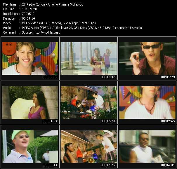 Pedro Conga video screenshot