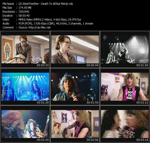 Steel Panther video screenshot