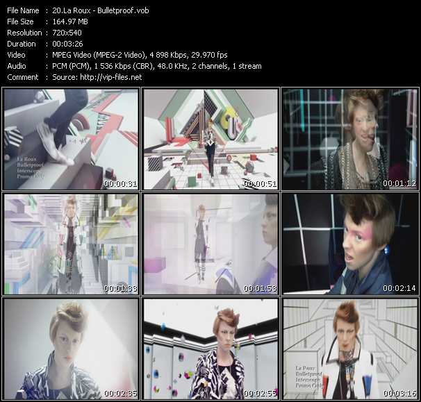 La Roux video screenshot