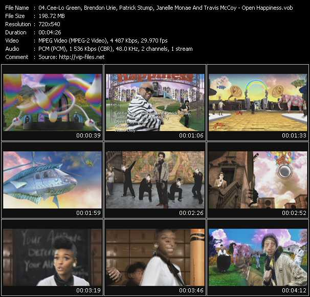 Cee Lo Green, Brendon Urie, Patrick Stump, Janelle Monae And Travis McCoy video screenshot