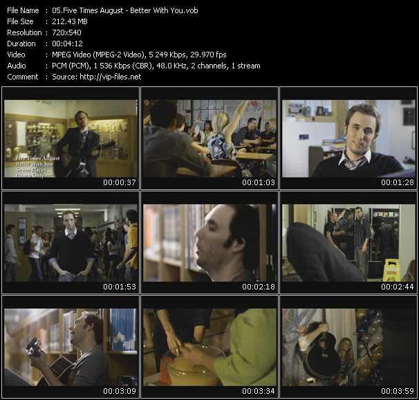 Five Times August video screenshot