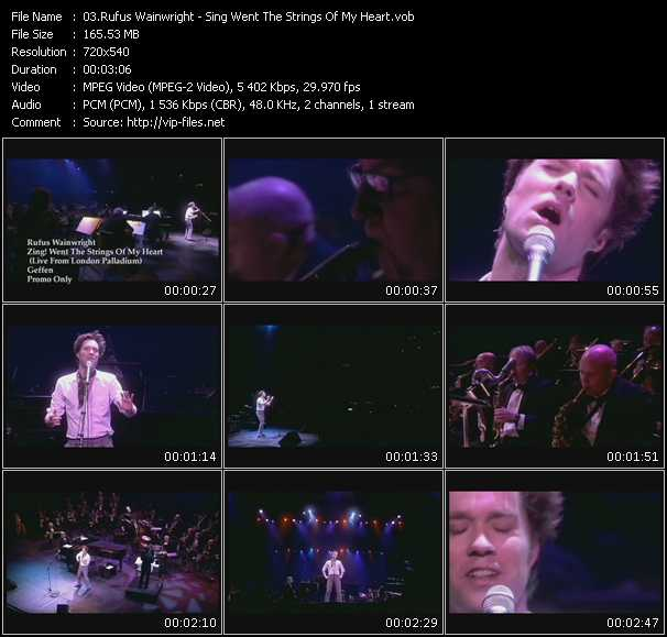 Rufus Wainwright video screenshot