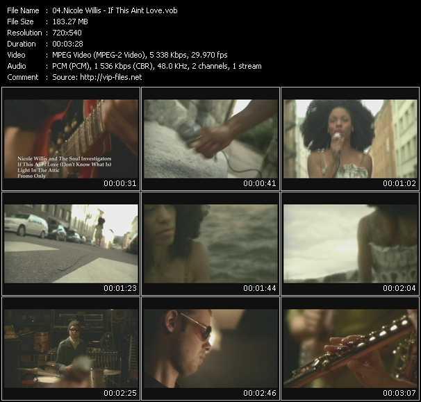 Nicole Willis video screenshot