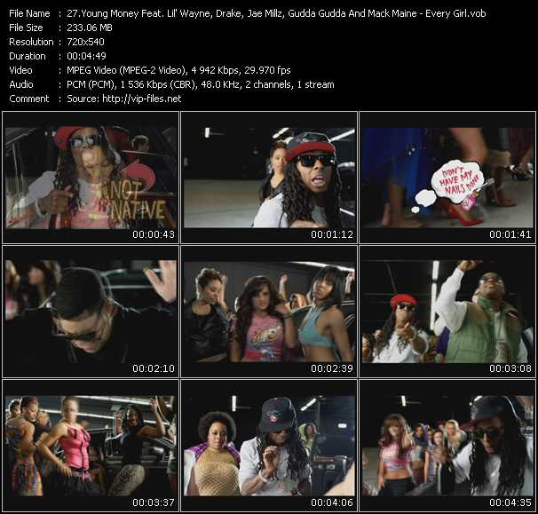 Young Money Feat. Lil' Wayne, Drake, Jae Millz, Gudda Gudda And Mack Maine video screenshot