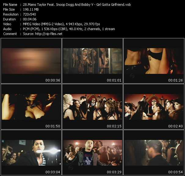 Mams Taylor Feat. Snoop Dogg And Bobby Valentino (Bobby V) video screenshot