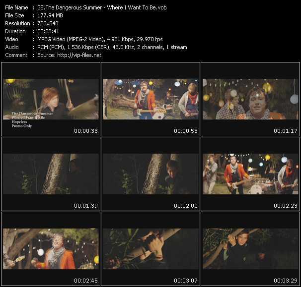 Dangerous Summer video screenshot