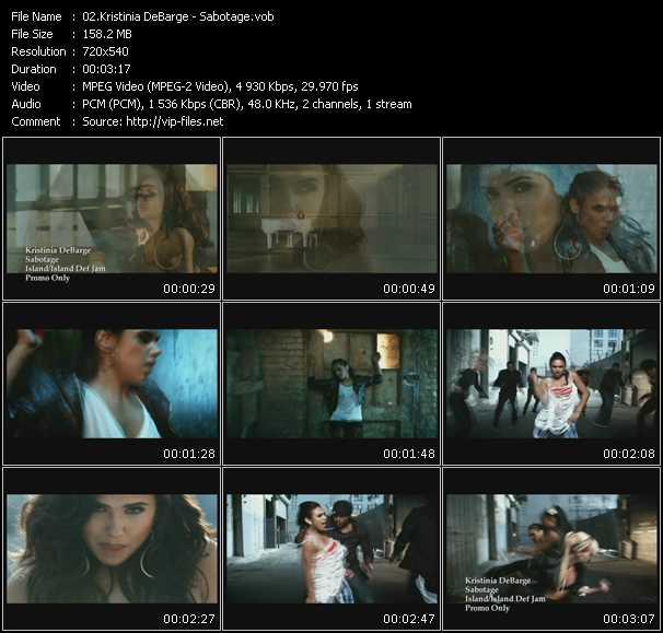 Kristinia DeBarge video screenshot