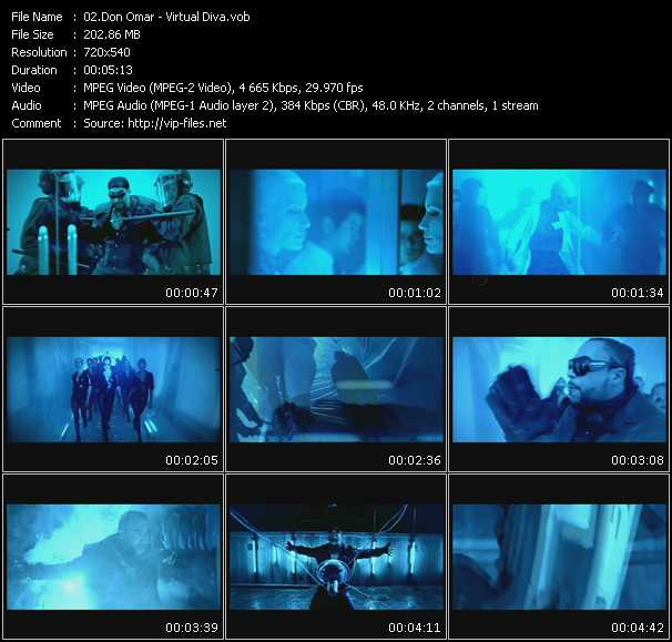 video Virtual Diva screen