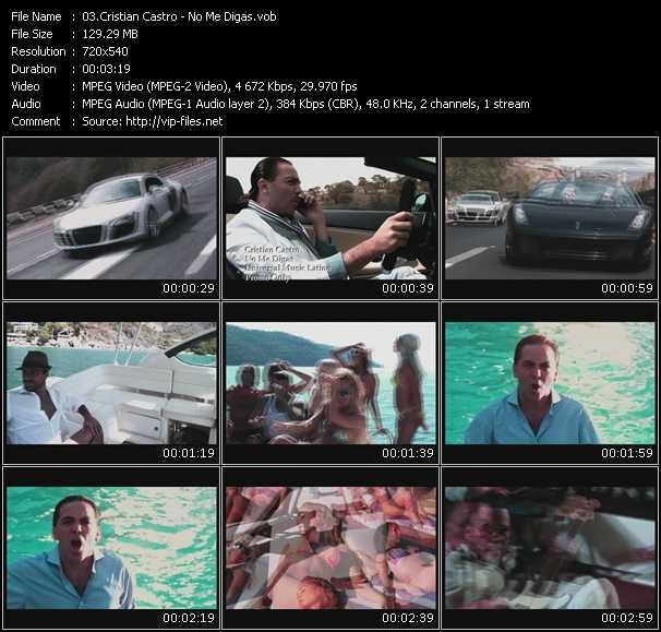 Cristian Castro video screenshot
