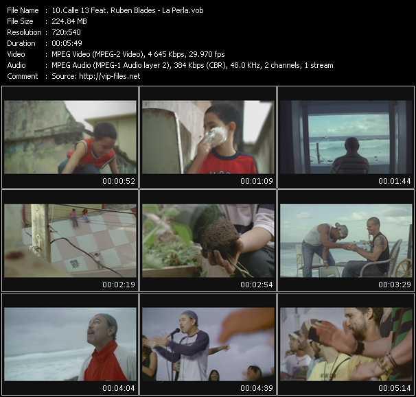 Calle 13 Feat. Ruben Blades video screenshot