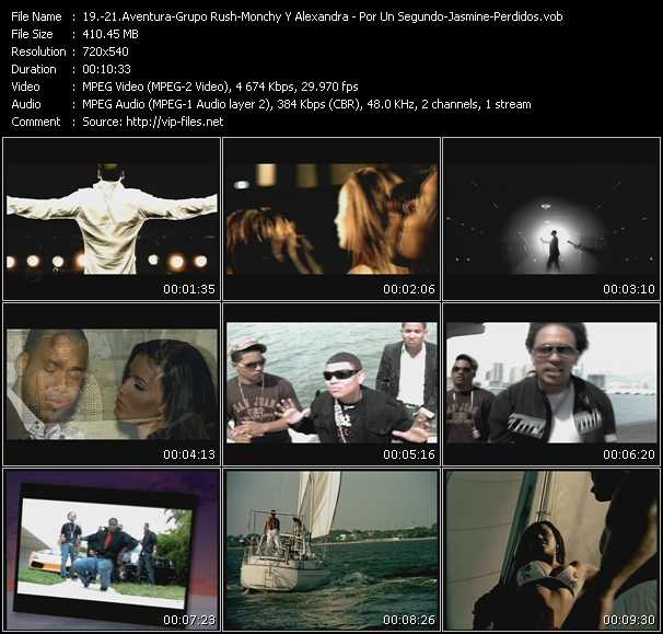 Aventura - Grupo Rush - Monchy And Alexandra video screenshot