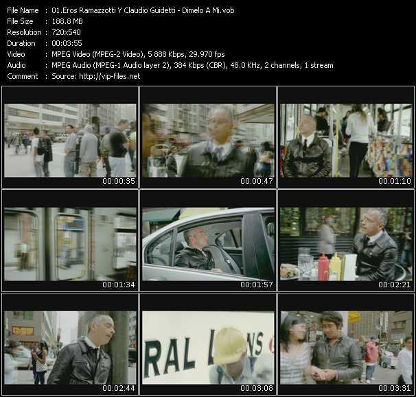Eros Ramazzotti And Claudio Guidetti video screenshot