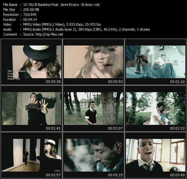 Tito El Bambino Feat. Jenni Rivera video screenshot