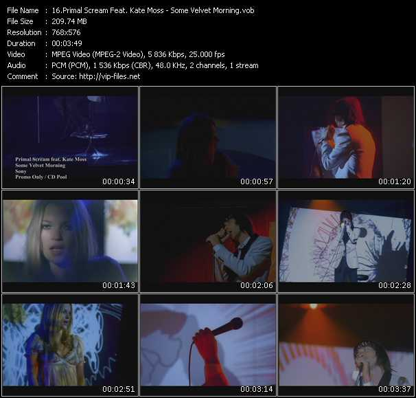 Primal Scream Feat. Kate Moss video screenshot