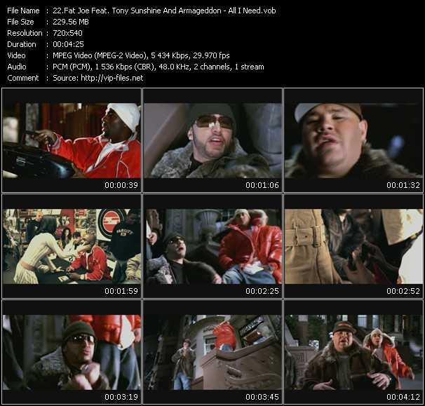 Fat Joe Feat. Tony Sunshine And Armageddon video screenshot