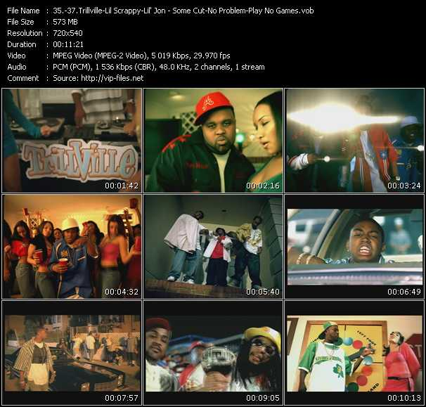 Trillville Feat. Cutty - Lil' Scrappy - Lil' Jon And The East Side Boyz Feat. Fat Joe, Trick Daddy And Oobie video screenshot