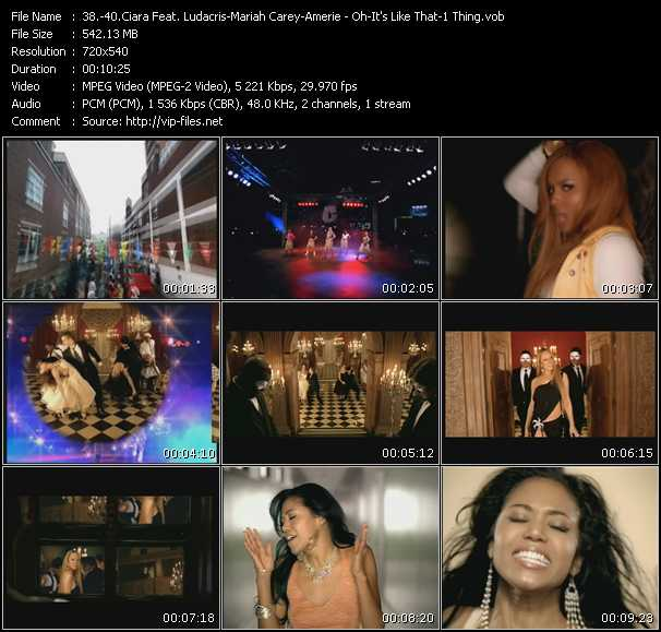 Ciara Feat. Ludacris - Mariah Carey - Amerie video screenshot