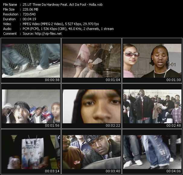 UT Three Da Hardway Feat. Act Da Fool video screenshot