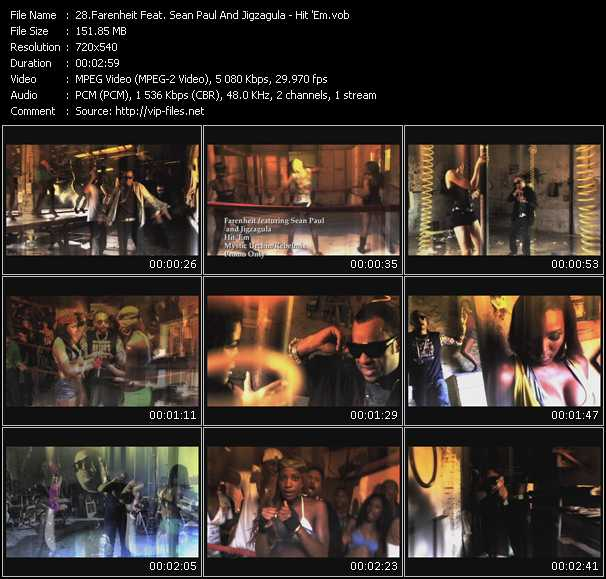 Farenheit Feat. Sean Paul And Jigzagula video screenshot