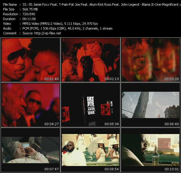 Jamie Foxx Feat. T-Pain - Fat Joe Feat. Akon - Rick Ross Feat. John Legend video screenshot
