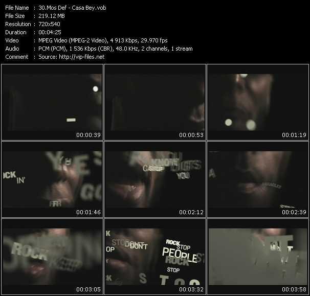 Mos Def video screenshot