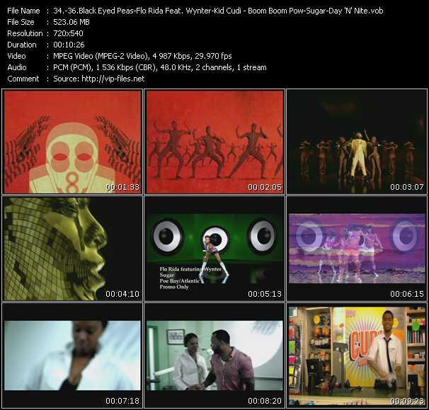 Black Eyed Peas - Flo Rida Feat. Wynter Gordon - Kid Cudi video screenshot