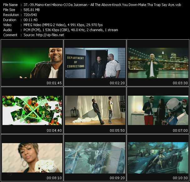 Maino Feat. T-Pain - Keri Hilson Feat. Kanye West And Ne-Yo - Oj Da Juiceman Feat. Gucci Mane video screenshot