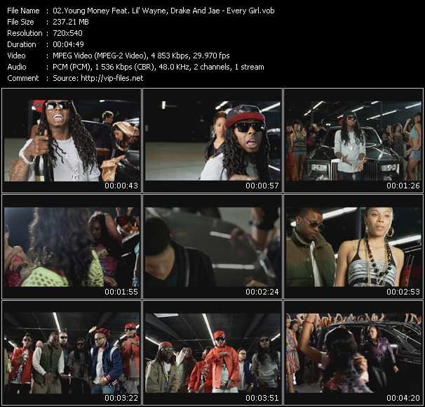 Young Money Feat. Lil' Wayne, Drake And Jae video screenshot
