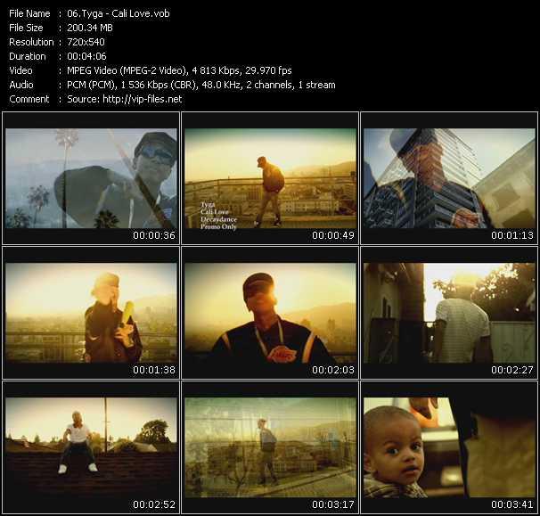 video Cali Love screen