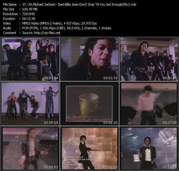video Bad-Billie Jean-Don't Stop 'Til You Get Enough (Mix) screen