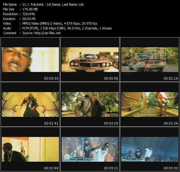 J. Futuristic video screenshot