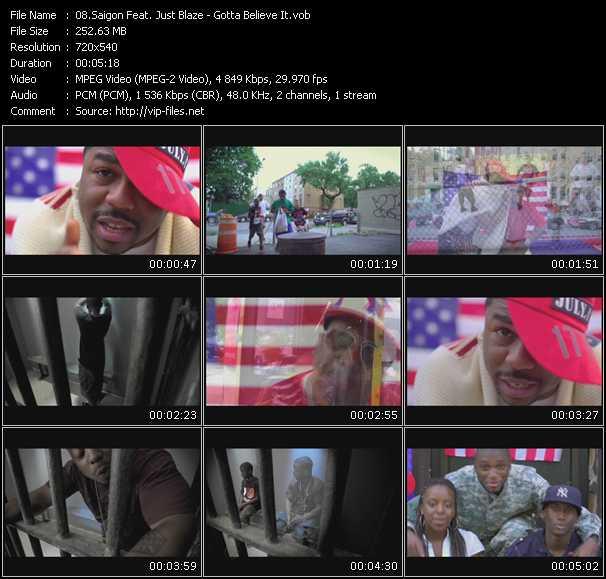 Saigon Feat. Just Blaze video screenshot