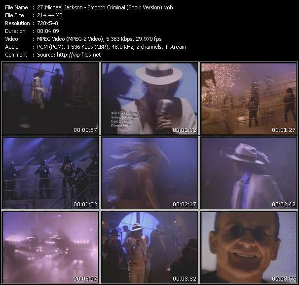 video Smooth Criminal (Short Version) screen