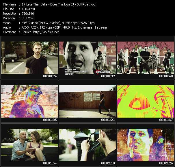 Less Than Jake video screenshot