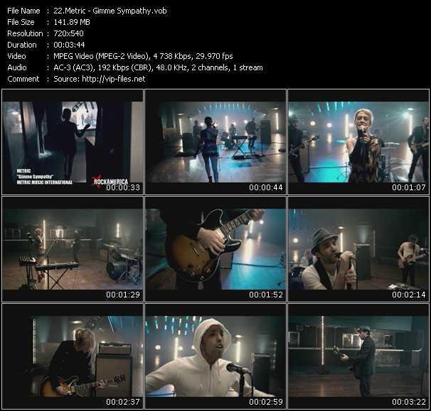 Metric video screenshot
