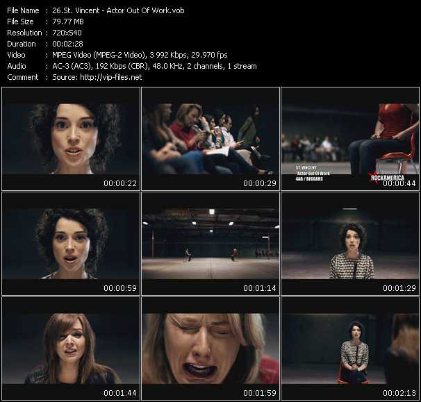 St. Vincent video screenshot